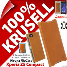 Krusell FlipCover GENUINE LEATHER Slim Flip Case Cover Sony Xperia Z5 Compact