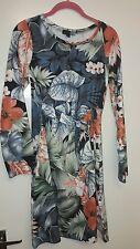 Ladies floral long sleeve dress by Smashed Lemon size 10 uk medium size M size 3