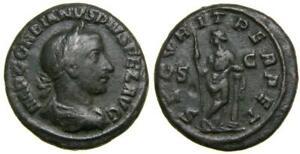 Gordian III AD 238-244 Æ As 26 mm 11.76 g 6h Rome mint AD 244 Good VF Securitas