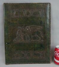 ancien grand sous-main porte-documents imitation cuir gaufré décor à l'antique