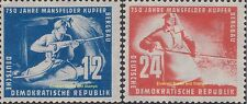 EBS East Germany DDR 1950 750 years Mansfeld Copper Mining Michel 273-274 MNH**