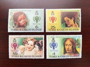 Turks & Caicos 1979 Scott #386-389 International Year of Child Mint NH