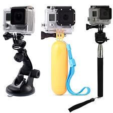 Gopro Hero 7 6 5 Car Suction Cup Mount Floating Handle Grip Selfie Stick Bundle