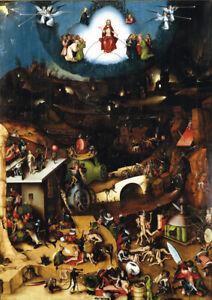 Hieronymus Bosch - The Last Judgement - A3 size 29.7x42cm Canvas Print Unframed