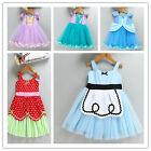 Toddler Baby Girl Disney Princesss Fancy Tutu Dress Summer Kids Birthday Party