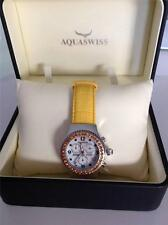 AQUASWISS CHRONOGRAPH SWISS MOVEMENT WATCH WITH GENUINE YELLOW  CITRINES