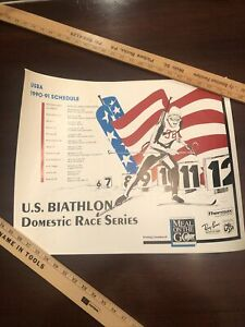 Vintage 1990-91 U.S. Biathlon Team Sports Illustrated Poster Schedule