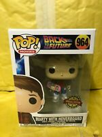 Marty with hoverboard Funko Pop Walmart Exclusive Back to the Future IN STOCK