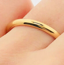 18ct Rose Gold D-shape Wedding Band size J 1/2
