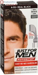 Just for Men Autostop Men's Comb-in Hair Color, Real Black