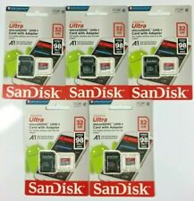 5 x 32GB Sandisk Ultra 98MB/S Micro Sd Memory Cards With Adapter Bulk Joblot