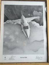 "Concorde Alan Stammers Ltd Edition of 500 Print ""Soaring High"" Signed Bannister"