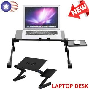 Black 360° Adjustable Foldable Laptop Notebook PC Desk Table Stand Bed Tray NEW