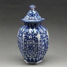 Chinese blue and white porcelain Draw dragon vase W qianlong mark NR