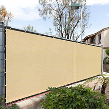 Fence Privacy Screen Cover Windscreen, with Heavy Duty Brass 4 x 50 Beige