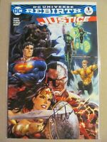 Justice League #1 DC Rebirth Signed with COA Dynamic Forces 2017 Tyler Kirkham