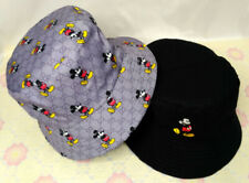 NEW GG Mickey Mouse Bucket  Hat Reversible Cap Gray/Black