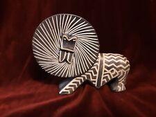 Vintage African Carved Stone Lion Figurine Primitive Kenya Africa