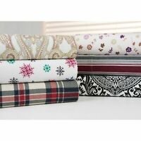Bibb Home 100-percent Cotton Printed Flannel Sheet Sets