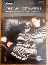 ~PATONS BOOK No. 1214 - CREATIVE HOMEWARES - 11 DESIGNS - RUGS & CUSHIONS - VGC~