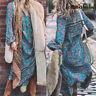Vintage Women Dress Bohemian Print Maxi Long Dresses Casual Deep V Neck Wear