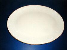 "Triomphe Fine Ivory China USA LEAF LACE 14"" Platter"