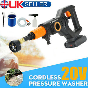 Cordless Electric Pressure Washer Water High Power Jet Wash Patio Car Portable