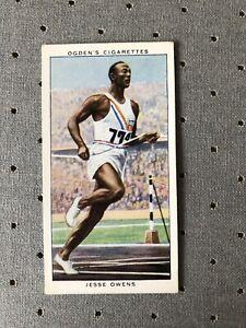 JESSE OWENS :Original Ogdens Champions of 1936 Cigarette Card Olympics Rookie RC