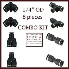 """1/4""""od Push to Connect Fittings Pneumatic Fittings kit"""