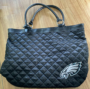 NFL Philadelphia Eagles Black Quilted Tote Bag Purse By ProFANity Little Earth