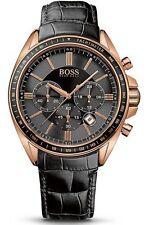 Original HUGO BOSS Uhr Driver Chronograph 1513092 mit Lederarmband, NEU+OVP