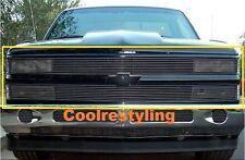 For 88-93 Chevy C/K Pickup/92-93 Blazer/Suburban Black Phantom Billet Grille