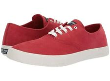 Sperry Top-Sider Mens Captain's CVO Washable Sneaker Red Nubuck 10.5 NEW