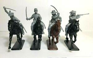 Italeri American Civil War Confederate Cavalry Set 54mm Fits Barzso Marx Imex