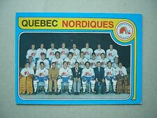 1979/80 O-PEE-CHEE NHL HOCKEY CARD #261 QUEBEC NORDIQUES TEAM CHECKLIST EXNM OPC