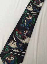 Da Uomo Vintage Anni'90 LOONEY TUNES TAZ Diavolo della Tasmania Cravatta Vestito Retrò Urban