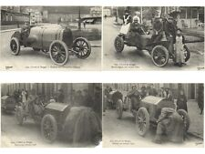 CIRCUIT DIEPPE 15 Vintage Car Racing postcards ALL POOR CONDITION (SOILED)