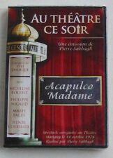 DVD ACAPULCO MADAME - AU THEATRE CE SOIR - M. BOUDET / Philippe NICAUD - NEUF