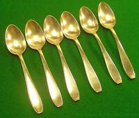 Service de six petites cuillères en métal argenté APOLLO années 1970/80