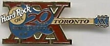 "Hard Rock Cafe TORONTO 1998 20th Year Anniversary PIN ""XX"" GUITAR"
