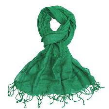 Soft Womens Scarf Colourful Ladies Shawl Wrap Plain Beautiful Bright Colours new