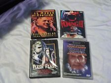 4 HORROR DVD WHITE ZOMBIE HOWLING 3 FLESH FEAST THE HOUSE OF EXORCISM RARE NEW