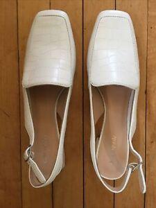 New Kate Spade White Slingback Shoes Size 10