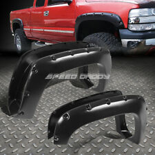 "FOR CHEVY/GMC C/K YUKON/TAHOE 3"" MATTE BLACK POCKET-RIVETED WHEEL FENDER FLARES"
