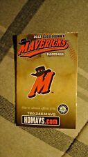 2012 High Desert Mavericks Baseball Schedule (Seattle Mariners, James Jones)