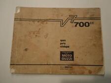 MOTO GUZZI 700CC V7 SPARE PARTS CATALOG 2ND EDITION MAY 1968