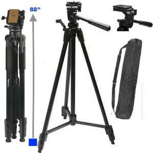"82"" PROFESSIONAL HEAVY DUTY TRIPOD FOR CANON EOS REBEL 5D 6D 7D 60D 70D 80D T5"