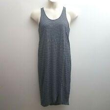 Gap Women Size Medium Navy Blue White Striped Dress Long Pullover Sleeveless NEW