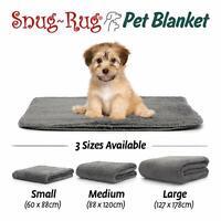 Grey Snug Rug Dog Cat Fleece Pet Puppy Soft Throw Blanket Large Medium Small Bed