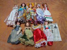 """Lot Of 9 Vintage 7 """" American Heritage Dolls Sleep Eyes"""